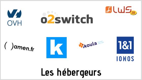 White Flute - Logos hébergeurs OVH 02Switch 1&1 Ionos Infomaniak