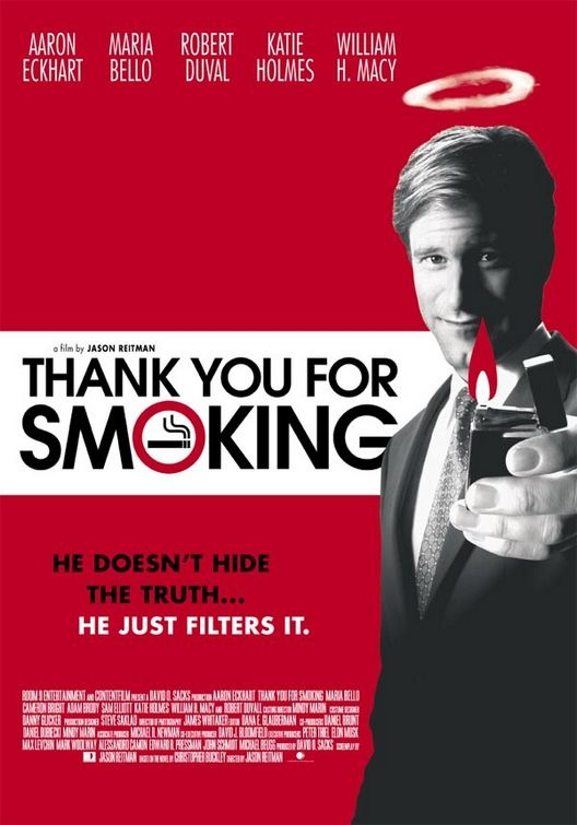 Livre inspiration affiche du film Thank You for Smoking
