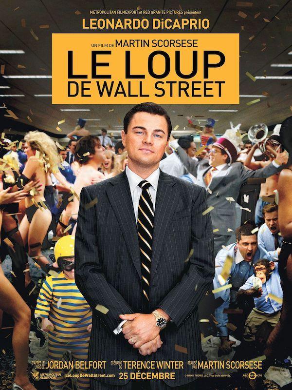 Affiche film Le Loup de Wall Street