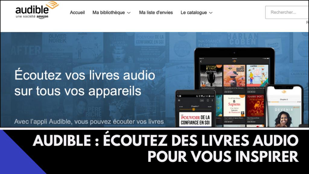 Couverture article de présentation Audible : audible livres audio mutli appareils
