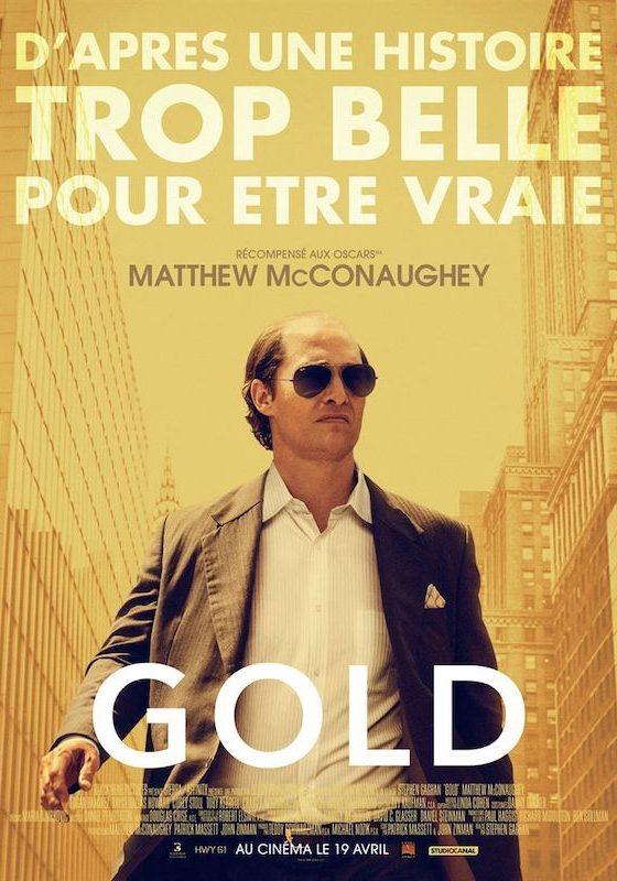 Affiche film Gold avec Mat McGonaughey